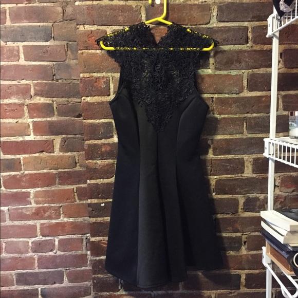 Charlotte Russe Dresses Gorgeous High Neck Tie Back Semiformal